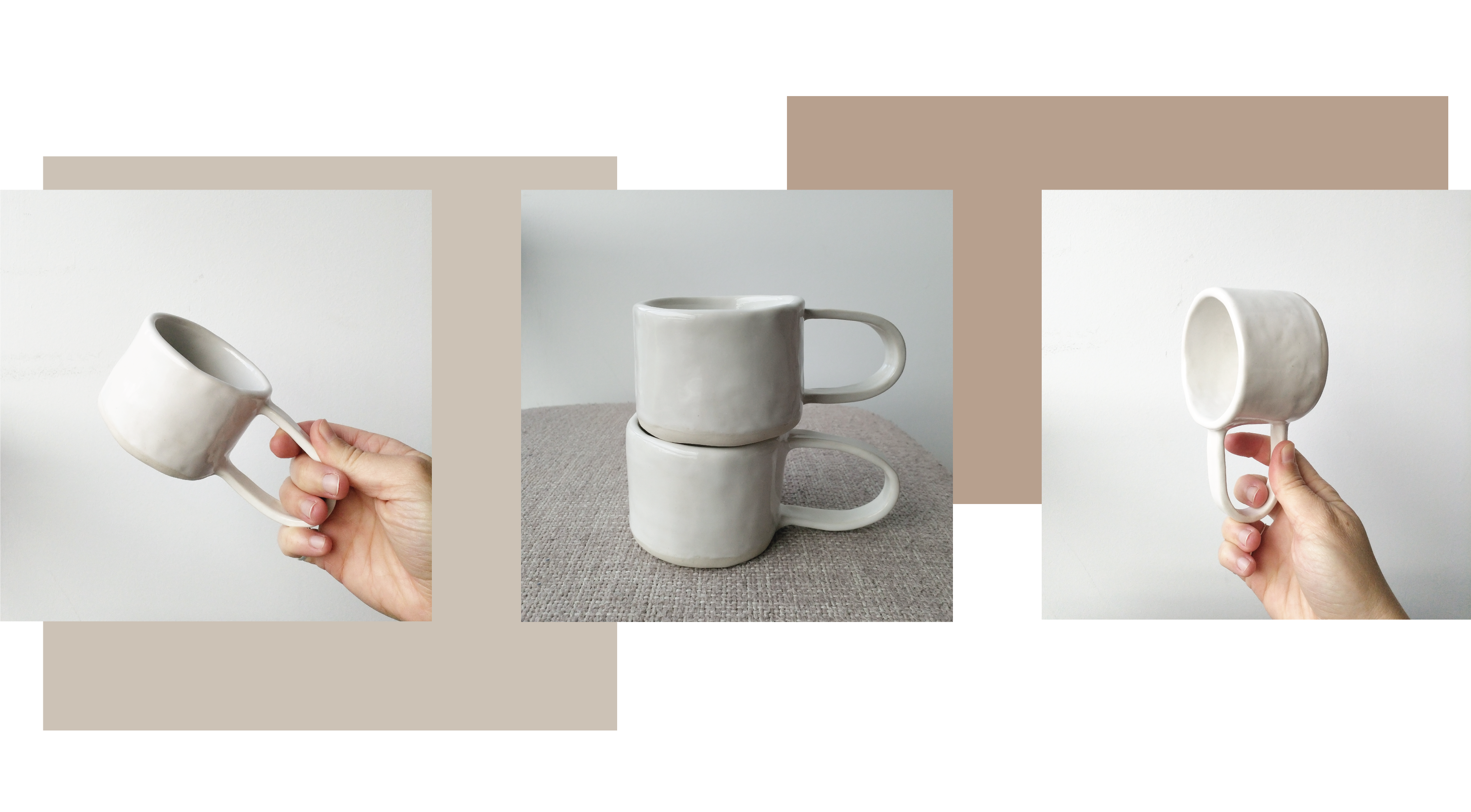 How I Made Minimalist Couples Coffee Cups Simple Slab Process The Humble Mud